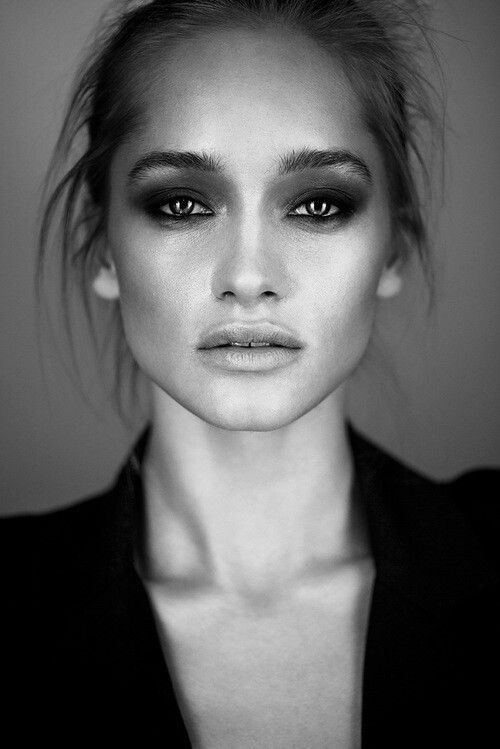 I loved the smokey eyes with the dewey skin and natural lips. Brings out a simple beauty in this model
