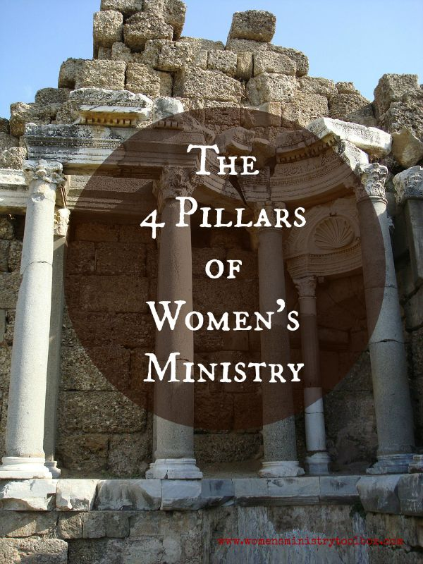 The 4 Pillars of Women's Ministry - Women's Ministry Toolbox - Taking a close look at the 4 roles of Women's Ministry.
