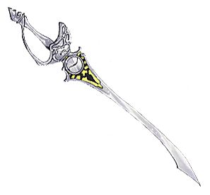 A Swordian (ソーディアン Soodian) is a sentient sword imbued with the personality and memories of an Er'ther military figure from the era of the Aeth'er Wars. Six Swordians exist in total, five of which survived in a fully functional capacity until the events of Tales of Destiny. From a gameplay perspective, Swordians are weapons that primarily grant the ability to use magic (晶術 shoujutsu). In the world of Tales of Destiny, magic is derived from the power of Lens, and the most potent energi...