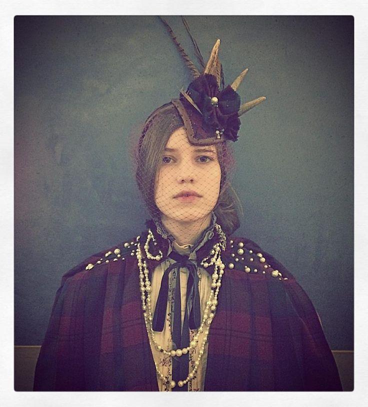 An' she has twa sparkling roguish een. '  - Robert Burns Headdress and cape - @mascherinadesign  Photo - @melora_walters  Model - @joannamwalsh