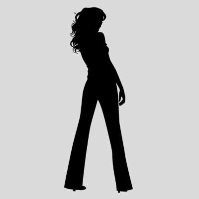 urban fashion lady Sexy girl silhouette Wall sticker Room decoration