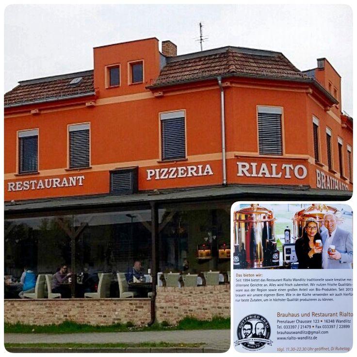 Inspirational Das angenehme Restaurant und Brauhaus Rialto in Wandlitz