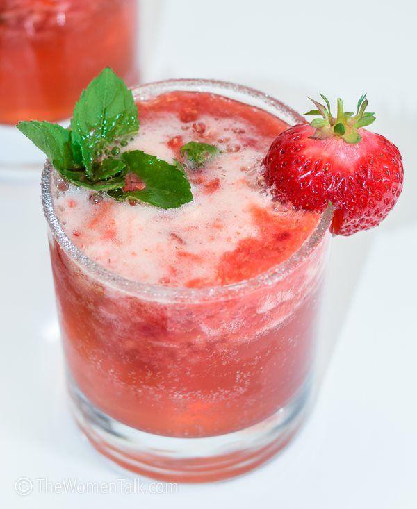 Fresh Strawberry Mojito Mocktail Non Alcoholic Drink