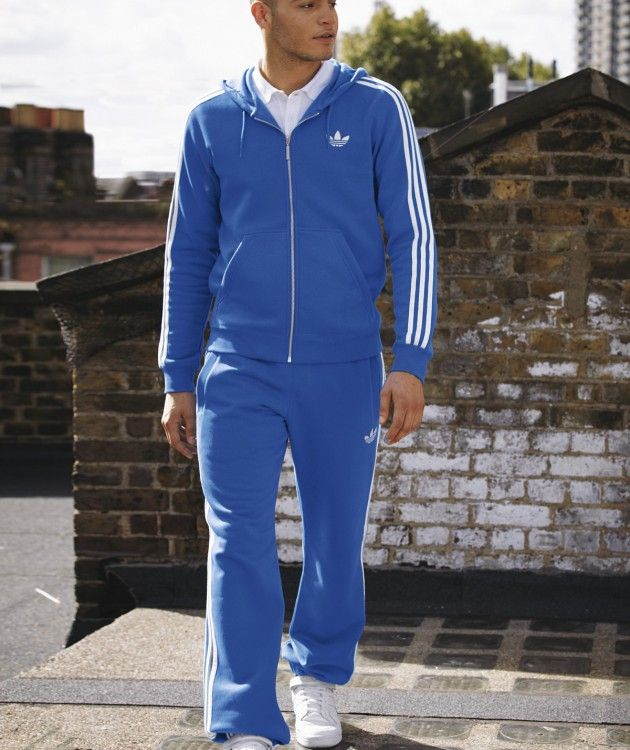 adidas tracksuit blue