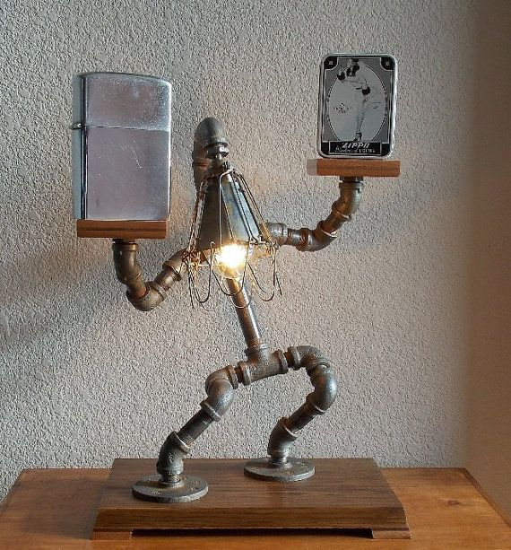 Industrial Table Desk Lamp by Splinterwerx on Etsy
