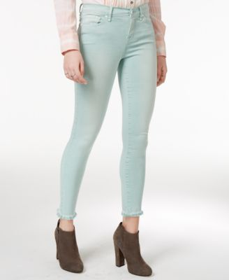 WILLIAM RAST Colored Wash Skinny Ankle Jeans