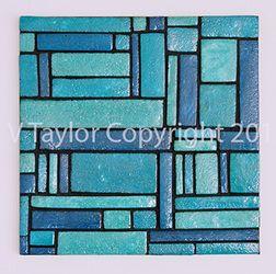 The Paperer Pulp to Sculpt Collection Colour: Blue Artwork Size: 41.5cm x 41.5cm x 4cm