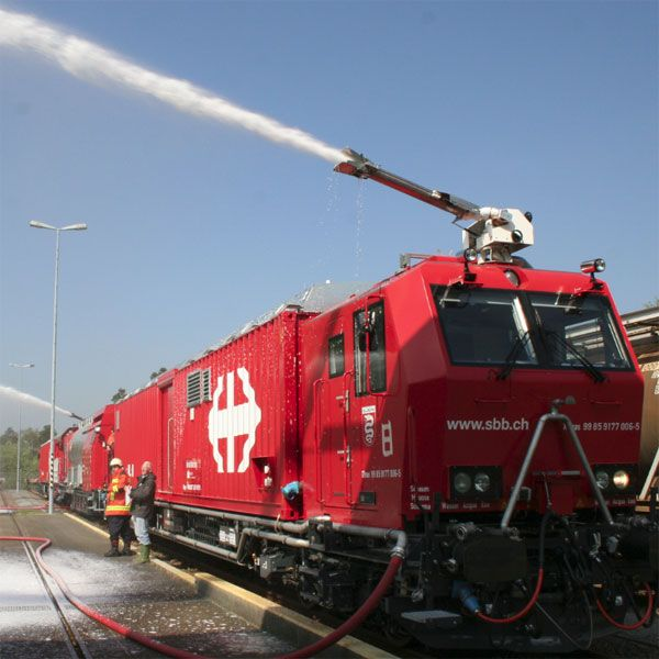 Because there is fire fighting train