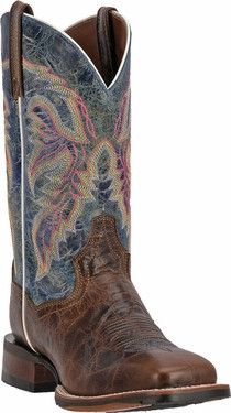 """Dan Post """"Teton"""" Tan & Blue Lava Cowboy Certified Boot DP3843 