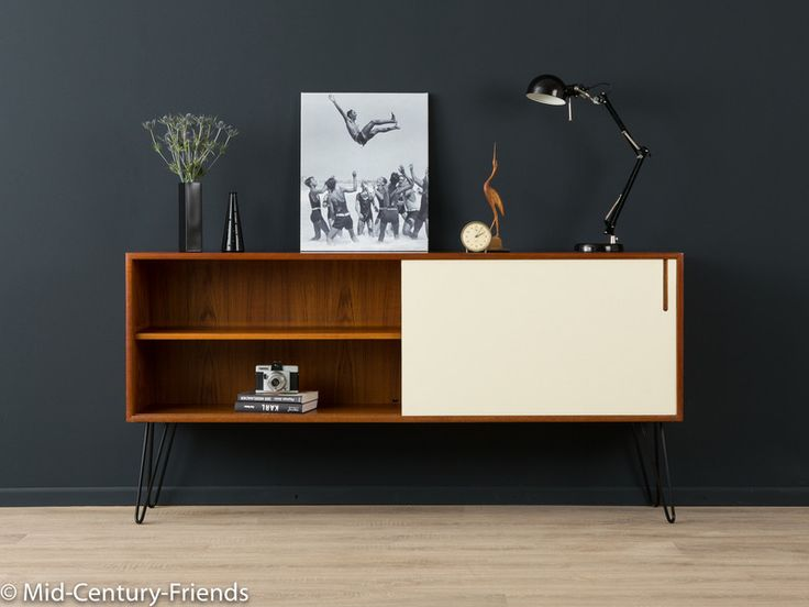 TEAK+Sideboard,+60er,+Kommode+50er,+WK,+Vintage,+von+MID+CENTURY+FRIENDS+auf+DaWanda.com