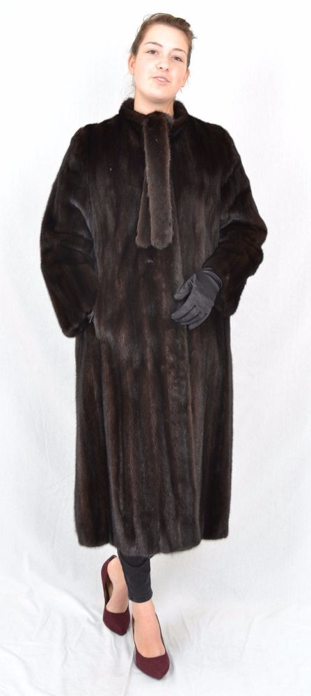 US393 Mink Fur Coat Jacket шуба норка Mex pelliccia di visone Nerzmantel ~ L #Handmade #BasicCoat