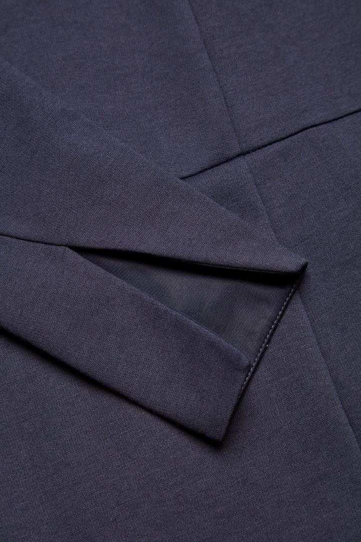 COS image 5 of Dress with twisted sleeve seams in Navy
