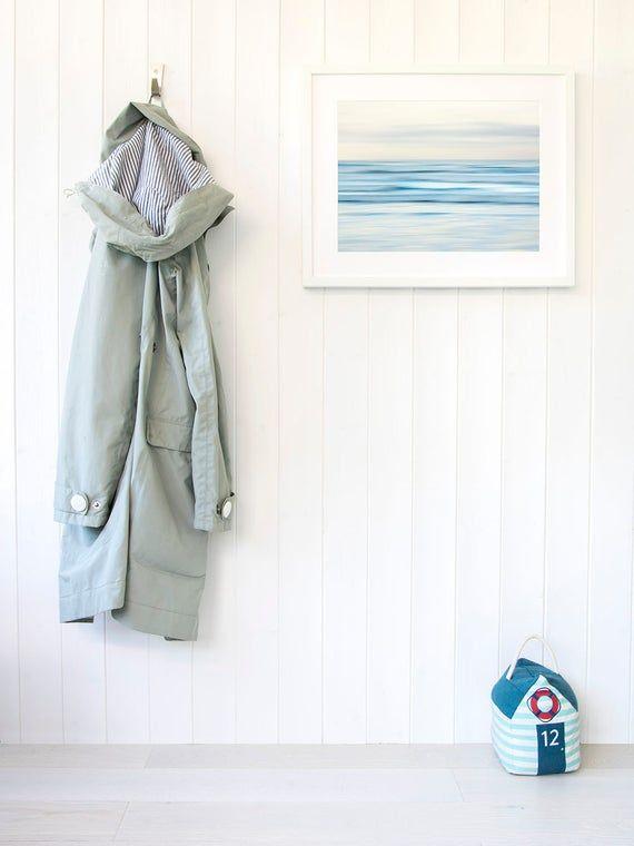 Minimalist Beach House: Modern Beach House Decor Minimalist Abstract Art Zen Ocean