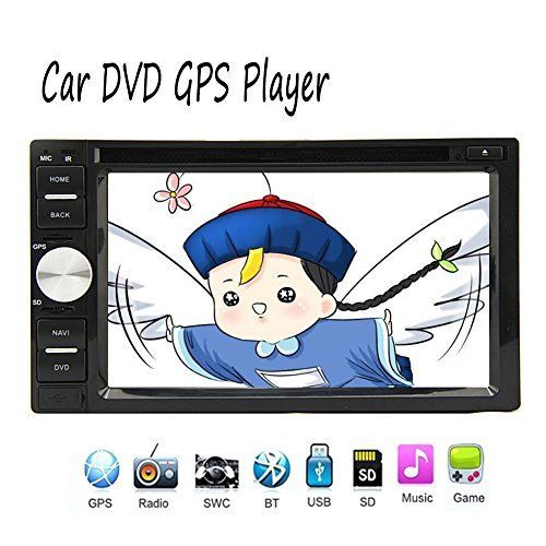 Free 8GB gps map Card included EinCar Stereo with FMAM Radio Reveiver Double Din Car DVD Player Autoradio bluetooth Hands free in Dash GPS Navigation Car Deck Headunit * Learn more by visiting the image link.
