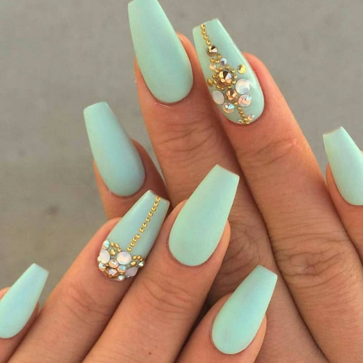 Best 25 mint acrylic nails ideas on pinterest sparkle acrylic almond nails prinsesfo Gallery