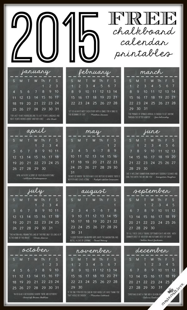 25 best ideas about 2015 calendar printable on pinterest for Usable calendar template