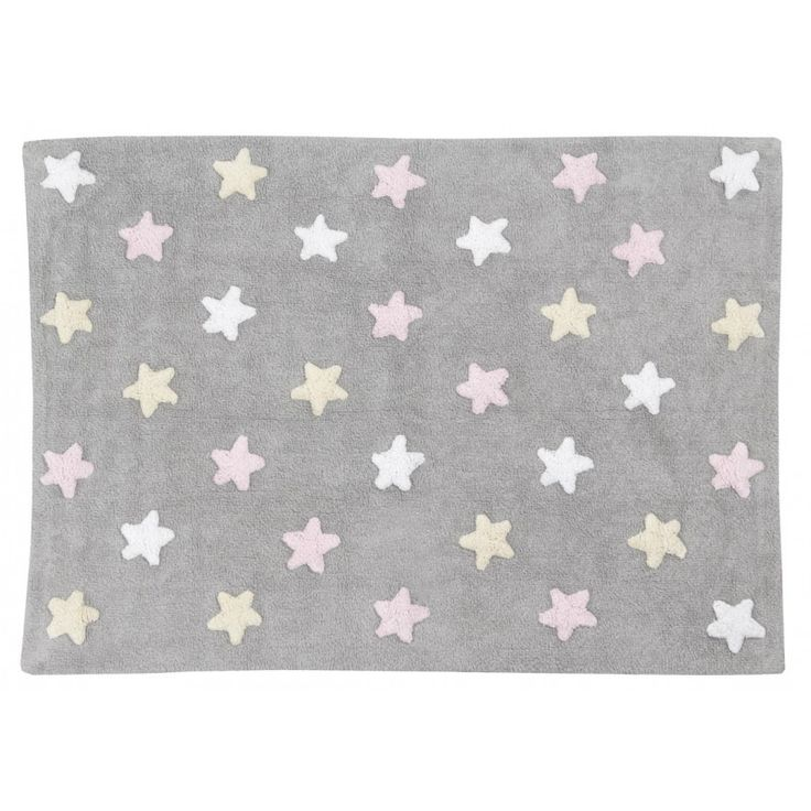 Lorena Canals - Washable Rug - Tricolor Stars Grey at West Coast Kids