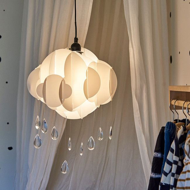 Ceiling Pendant, White Childrens Lampshade