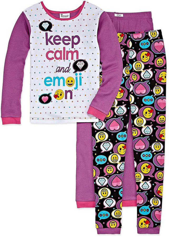 EMOJI, INC. Emoji, Inc. 2-pc. Pant Pajama Set Girls
