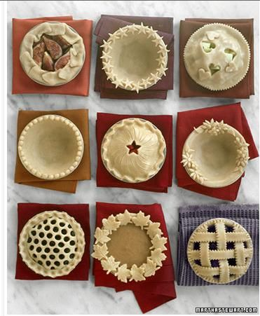 Great pie crust designs!