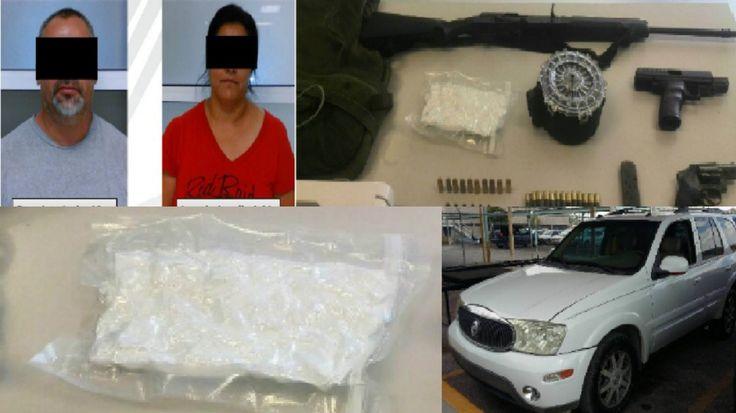 FGE detiene a pareja con media libra de metanfetaminas, 3 armas de fuego y un chaleco antibalas | El Puntero