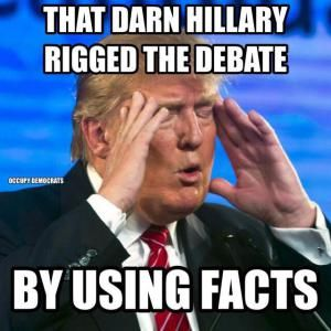 The best jokes, tweets and memes reacting to the first presidential debate between Donald Trump and Hillary Clinton.: Rigged Debate