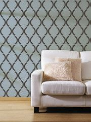 Large Deco Damask Wall Stencil