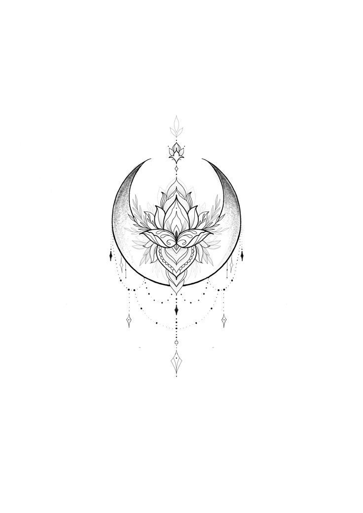Best 11 #moon #moontattoo #lotus #lotustattoo #girltattoo – SkillO – Sarah Gnanko