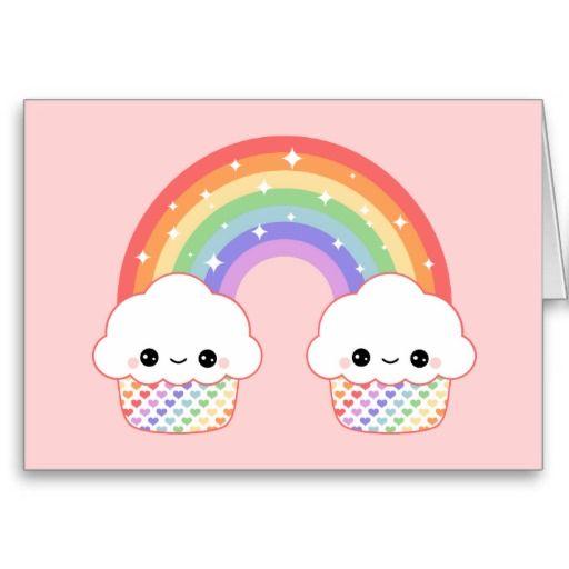 Kawaii Cupcake Rainbow | Kwaii style | Dessin kawaii ...