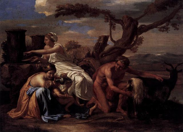 O Δίας βρέφος τρέφεται από την αίγα Αμάλθεια (1638)