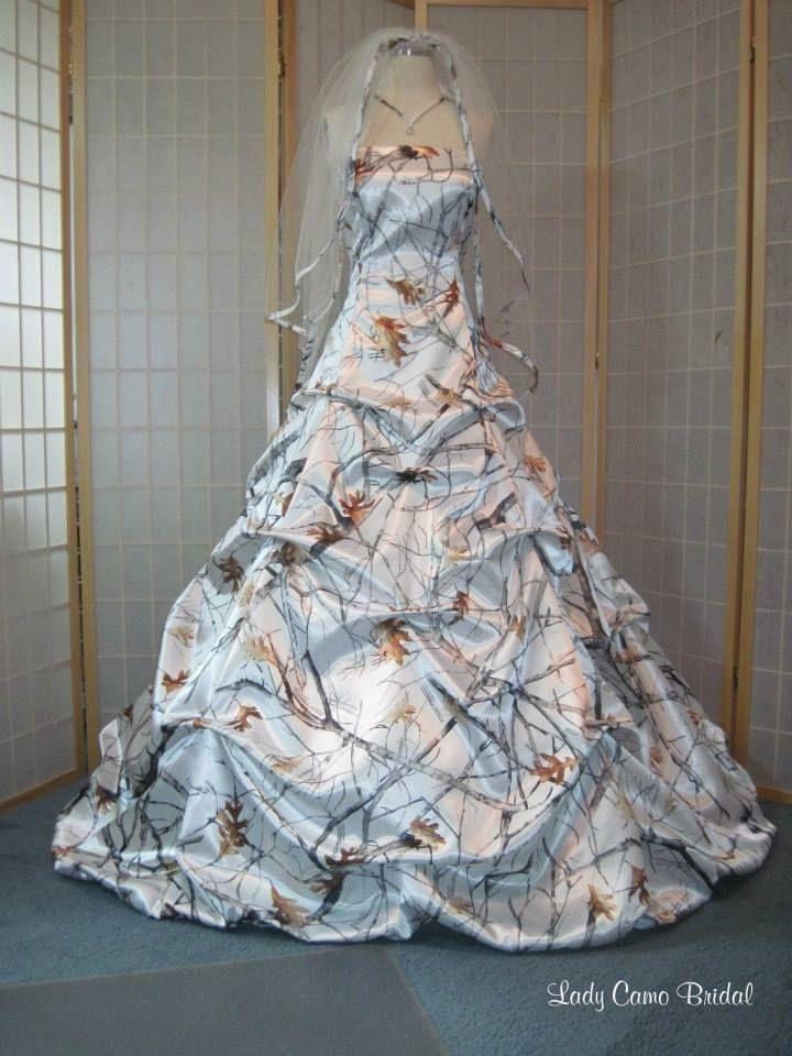 White camo dress the dress pinterest best white camo for Snow white camo wedding dress