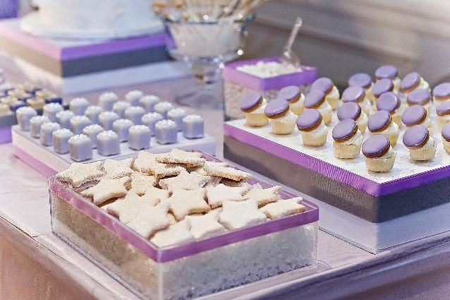 stunning lavender desserts: Sweet Parties, Purple Macaroons, Amy Atlas, Sweet Tables, Candy Bar, Desserts Bar, Atlas Events, Desserts Tables, Parties Decor