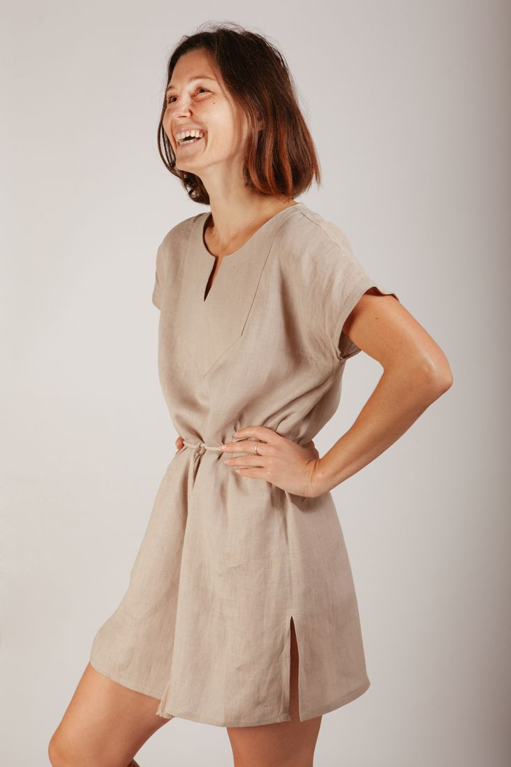 Linen Tunic With Tassel Belt Tutorial Sewing Projects