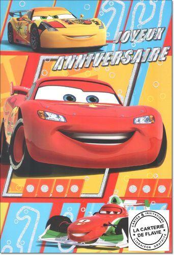carte disney anniversaire cars mais aussi invitation lunit retrouvez sur le site - Anniversaire Cars