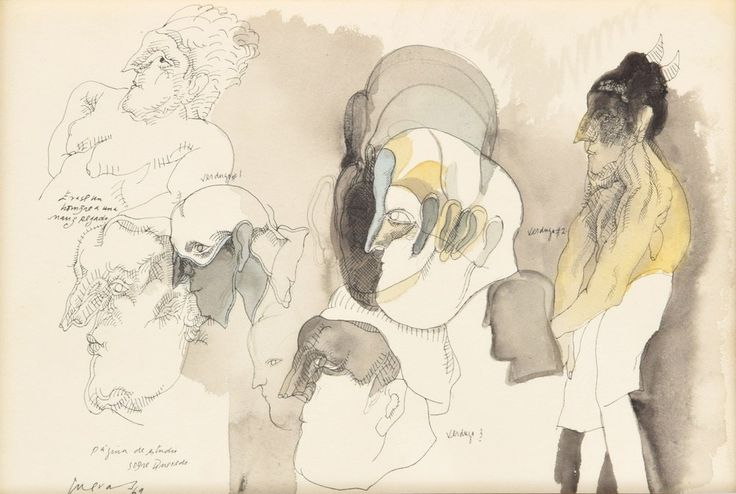 Jose Luis Cuevas – Drawing,1969