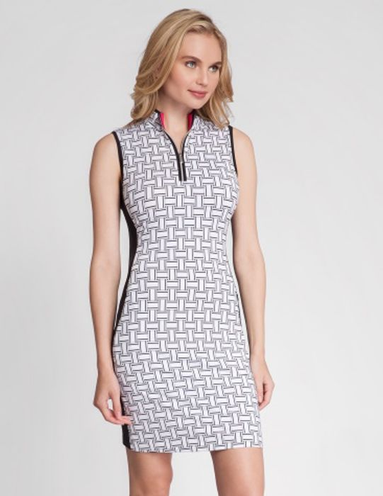 Tile Weave Tail Ladies Dolce Vita Cecily Sleeveless Golf Dress available at  Lori's Golf Shoppe