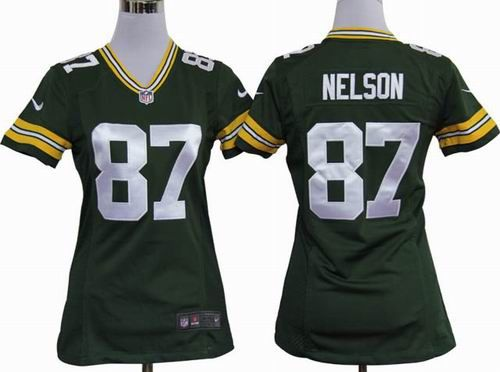 29c8e9b1f ... Women 2012 nike Green Bay Packers 87 Jordy Nelson green game jerseys  22.5 ...