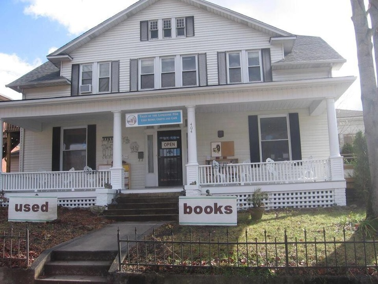 The Little Bookstore in Big Stone Gap, (Virginia). Adorable bookstore just the way I like them - cluttered with books tucked into lots of cozy little corners, and several resident cats.