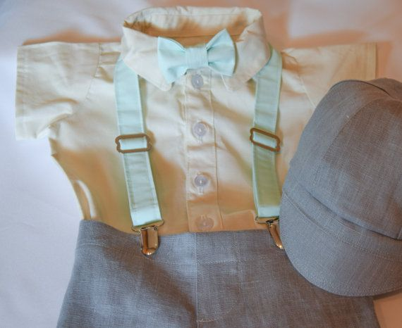 Gray linen Easter or Wedding suit in sizes 6 by CuppyCakeClothing #Easter