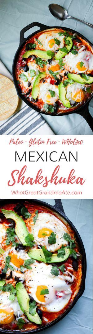 Paleo Mexican Shakshuka (Gluten Free, Whole30) via @whatggmaate