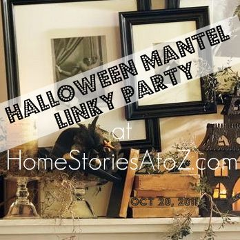 Awesome collection of Halloween themed mantels.