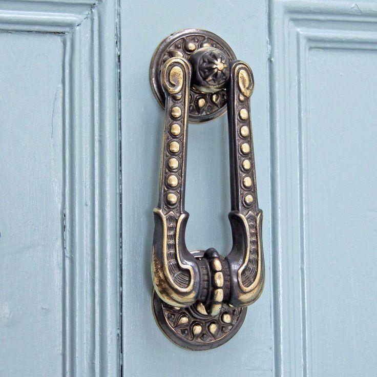 Antique Brass Victorian Georgian Regency Door Knocker   ATC