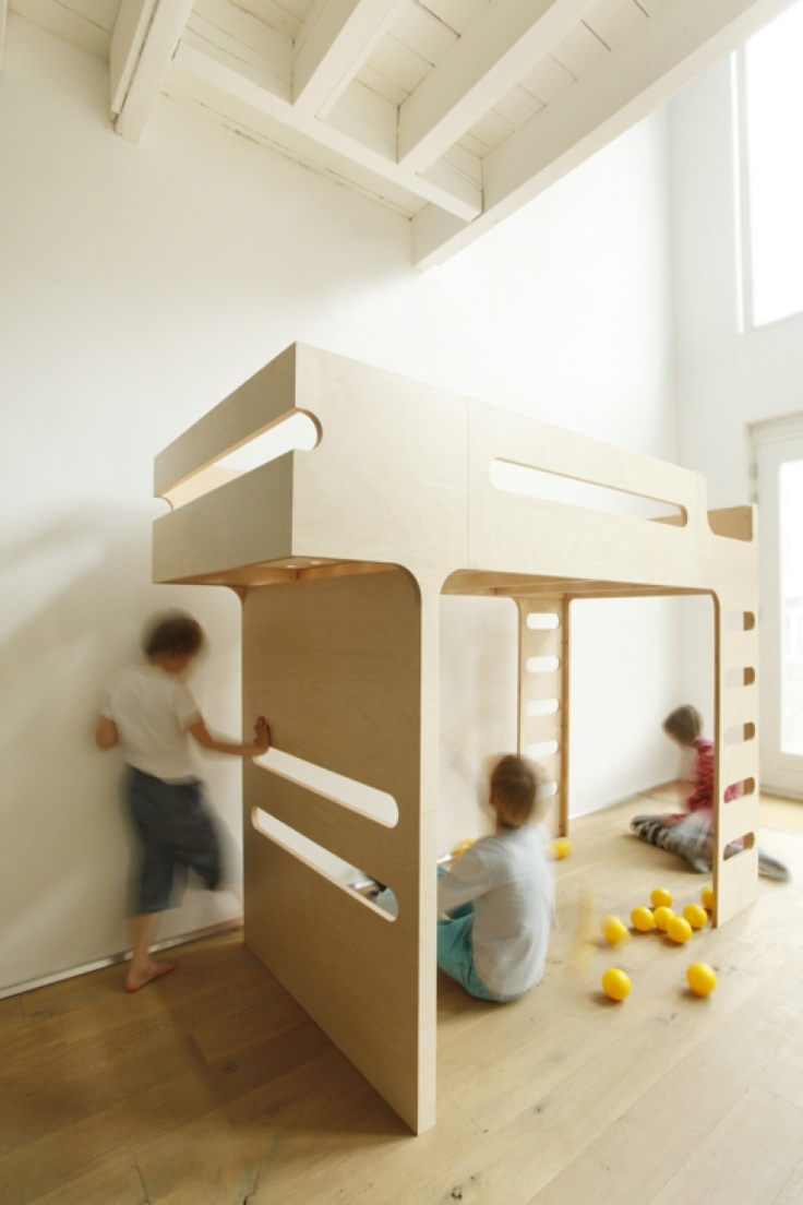 Loft bunk bed with slide   Best images about lofts on Pinterest  Kids rooms Loft beds and
