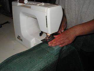 Scarecrow's Garden: Sewing Shade Cloth