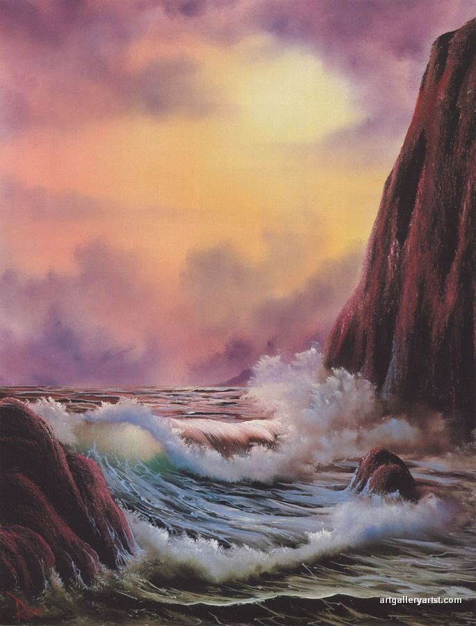 I just found out that Bob Ross had a Tv show! I thought he was just a meme! I love the show! I just watched the one where he painted this! Though this might not be his