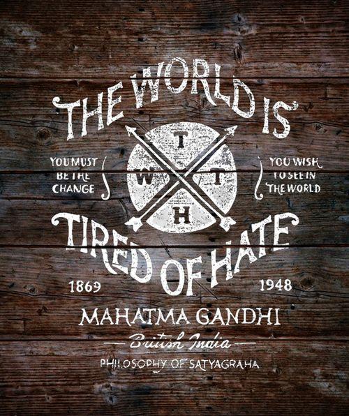 Words Of Wisdom, Mahatma Gandhi, Vintage Typography, Quote, Art Prints, Hands Letters, Gift Cards, Bmd Design, Typographic Design