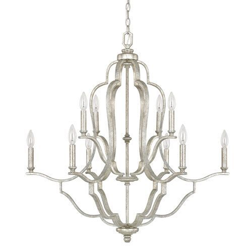 The Capital Lighting Blair 4940 is a transitional chandelier available in and Antique Silver finish.The transitional style is sure to complement any entry.