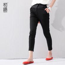 toyouth 2015 kapriler yaz moda kadın nakış pantolon pamuk iş rahat kalem pantolon pantolon bayan pantolonları(China (Mainland))