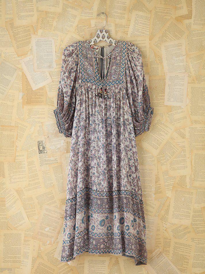 Free People Vintage Patterned Boho Dress