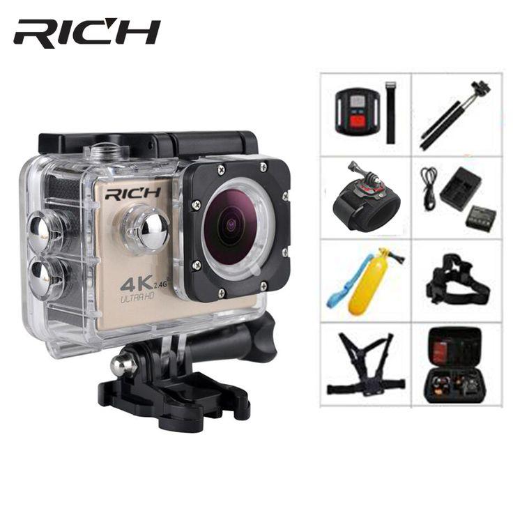 "RICH F5R Action camera Full HD WiFi 2.0""Screen  140D Go 30M underwater Waterproof Mini Cam Pro Swim Sports Camera Hero 4 style"